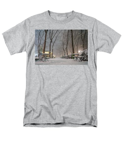 Bryant Park - Winter Snow Wonderland - T-Shirt by Vivienne Gucwa