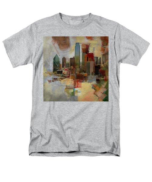 Dallas Skyline 003 Men's T-Shirt  (Regular Fit) by Corporate Art Task Force