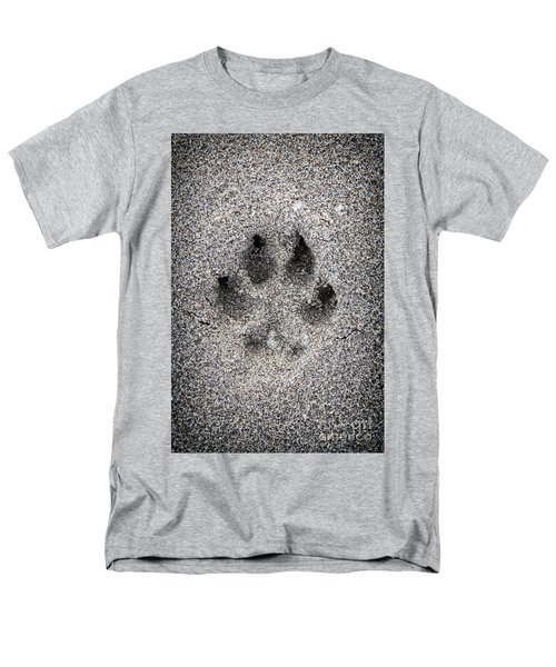 Dog paw print in sand T-Shirt by Elena Elisseeva