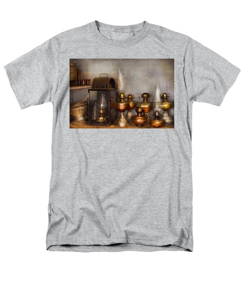 Electrician - A collection of oil lanterns  T-Shirt by Mike Savad