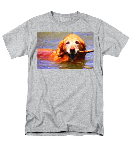 Golden Retriever - Painterly T-Shirt by Wingsdomain Art and Photography