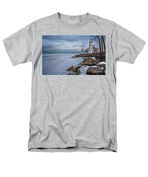 Marblehead Lighthouse  Men's T-Shirt  (Regular Fit) by James Dean