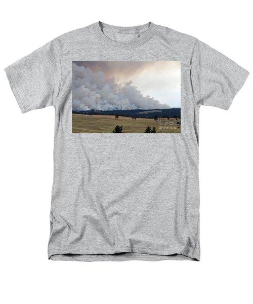 Men's T-Shirt  (Regular Fit) featuring the photograph Myrtle Fire West Of Wind Cave National Park by Bill Gabbert