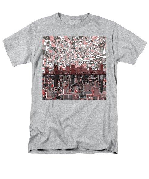 Nashville Skyline Abstract 3 Men's T-Shirt  (Regular Fit) by Bekim Art