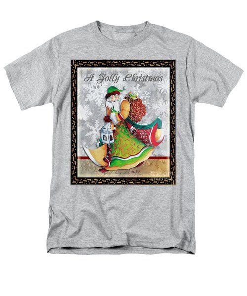 Old World Santa Clause Christmas Art Original Painting By Megan Duncanson T-Shirt by Megan Duncanson