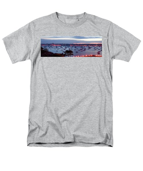 Panoramic of the Marblehead Illumination T-Shirt by Jeff Folger
