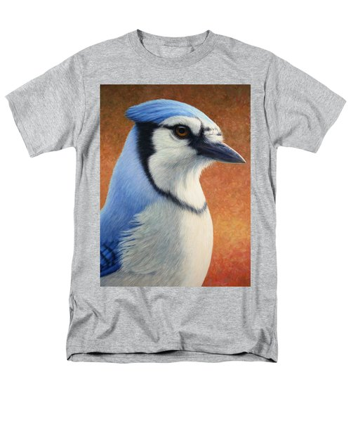 Portrait Of A Bluejay Men's T-Shirt  (Regular Fit) by James W Johnson