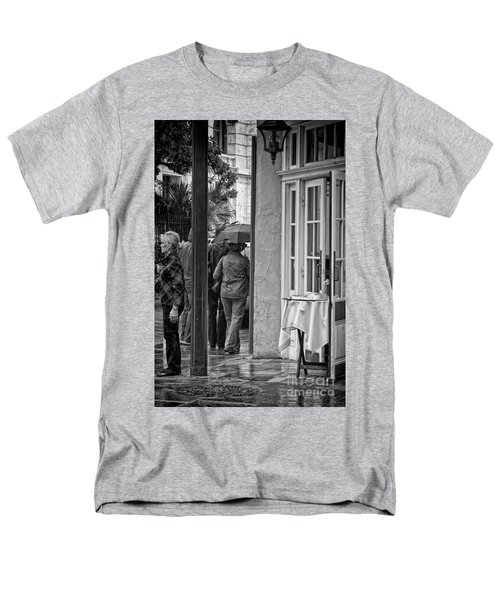 Rainy Day Lunch New Orleans Men's T-Shirt  (Regular Fit) by Kathleen K Parker