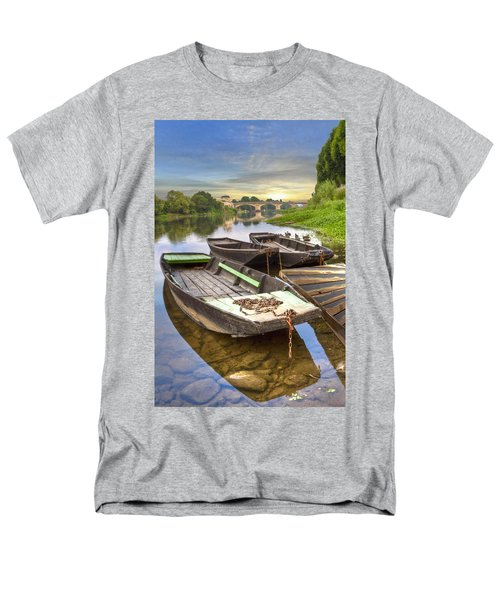 Rowboats on the French Canals T-Shirt by Debra and Dave Vanderlaan