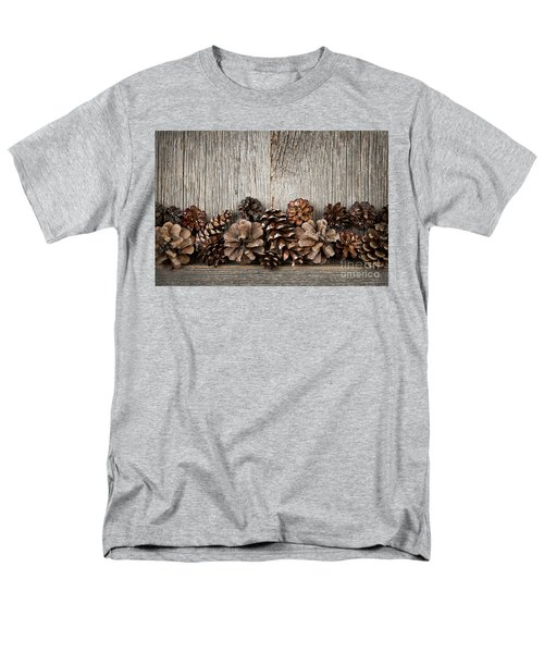 Rustic wood with pine cones T-Shirt by Elena Elisseeva