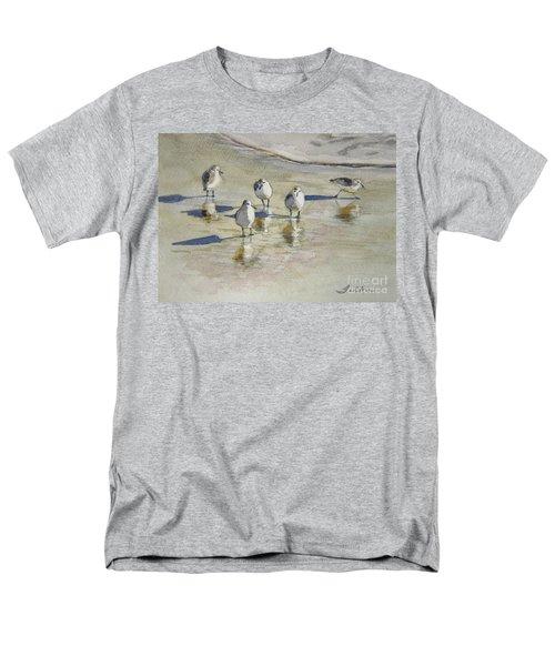 Sandpipers 2 Watercolor 5-13-12 Julianne Felton Men's T-Shirt  (Regular Fit) by Julianne Felton