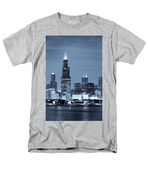 Sears Tower In Blue T-Shirt by Sebastian Musial