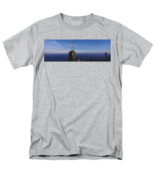 Skyscrapers In A City, Hancock Men's T-Shirt  (Regular Fit) by Panoramic Images