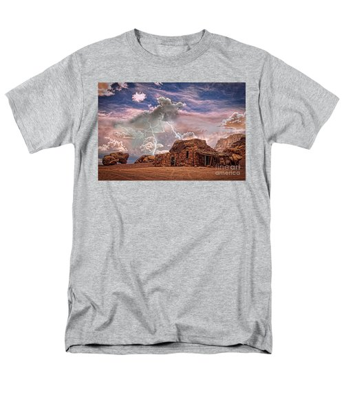 Southwest Navajo Rock House and Lightning Strikes HDR T-Shirt by James BO  Insogna
