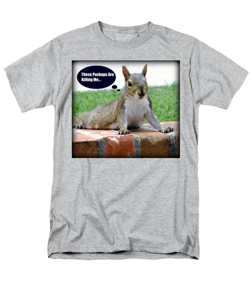 Squirrely Push Ups T-Shirt by KAREN WILES