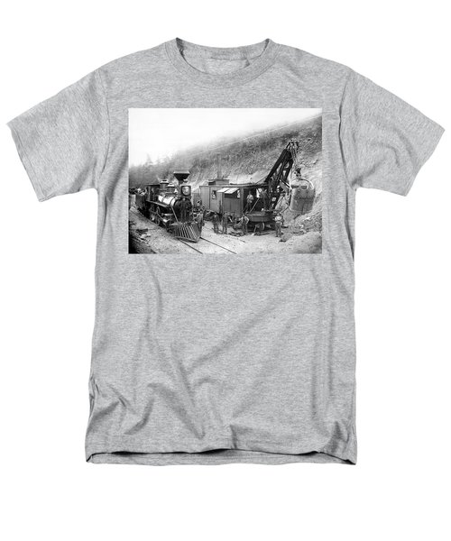 STEAM LOCOMOTIVE and STEAM SHOVEL 1882 T-Shirt by Daniel Hagerman