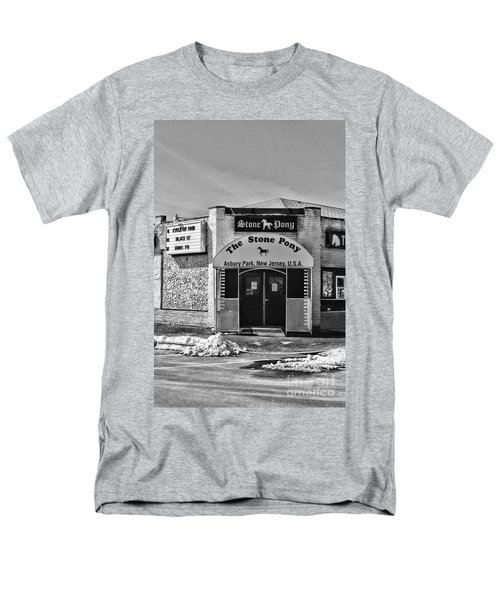 Stone Pony In Black And White Men's T-Shirt  (Regular Fit) by Paul Ward