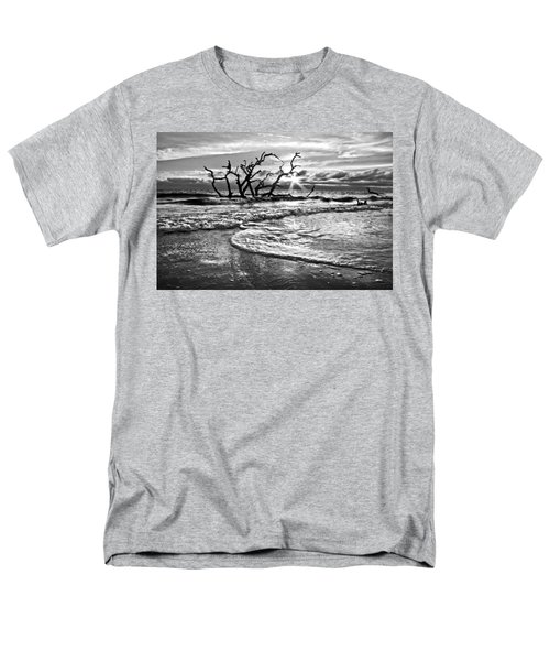 Surf at Driftwood Beach T-Shirt by Debra and Dave Vanderlaan