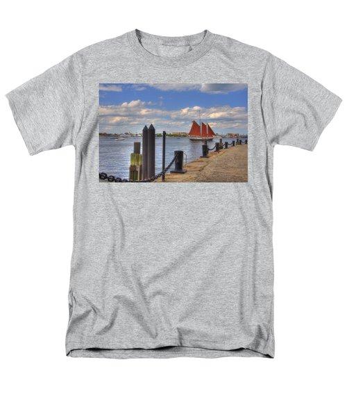 Tall Ship The Roseway in Boston Harbor T-Shirt by Joann Vitali