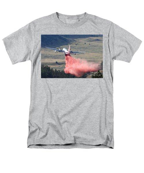 Men's T-Shirt  (Regular Fit) featuring the photograph Tanker 45 Dropping On Whoopup Fire by Bill Gabbert