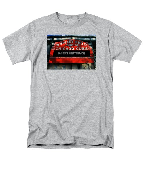 Wrigley Field -- Happy Birthday Men's T-Shirt  (Regular Fit) by Stephen Stookey