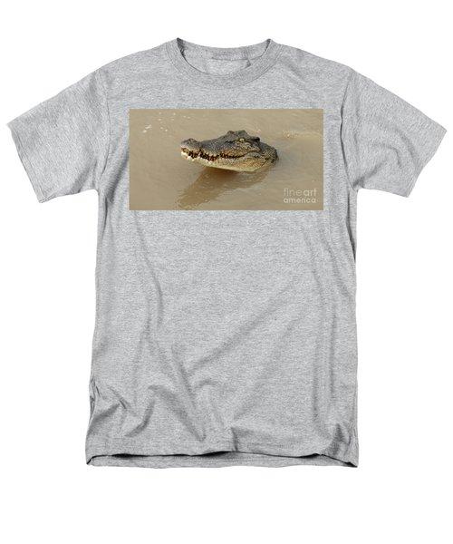 Salt Water Crocodile 3 Men's T-Shirt  (Regular Fit) by Bob Christopher