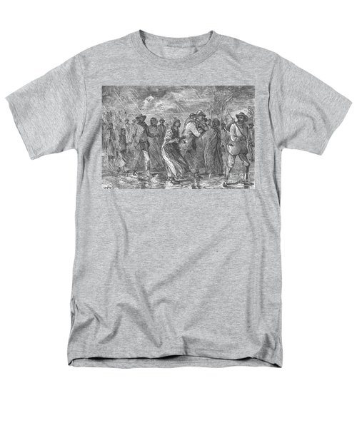 Escaping To Underground Railroad T-Shirt by Photo Researchers