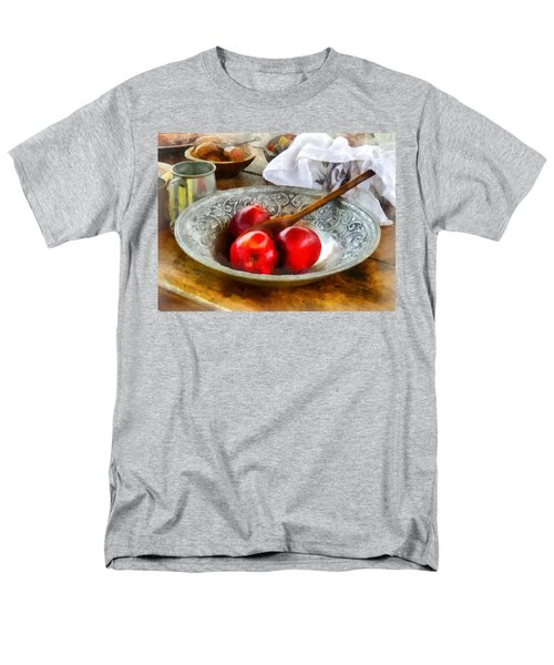 Apples in a Silver Bowl T-Shirt by Susan Savad