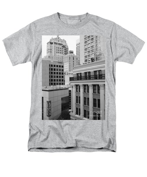 Downtown San Francisco Buildings - 5D19323 - Black and White T-Shirt by Wingsdomain Art and Photography