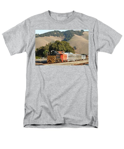 Historic Niles Trains in California . Old Southern Pacific Locomotive and Sante Fe Caboose . 7D10818 T-Shirt by Wingsdomain Art and Photography