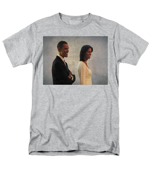President Obama And First Lady Men's T-Shirt  (Regular Fit) by David Dehner