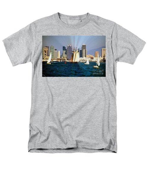 Saturday in San Diego Bay T-Shirt by Cheryl Young