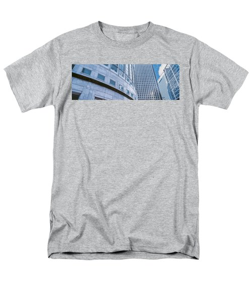 Skyscrapers In A City, Canary Wharf Men's T-Shirt  (Regular Fit) by Panoramic Images