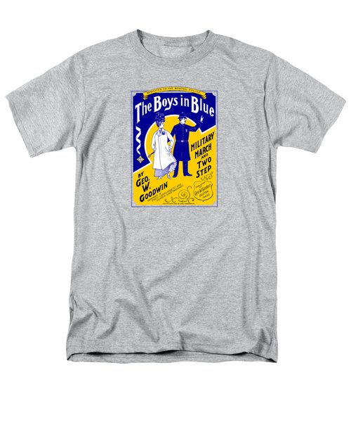 1901 The Boys In Blue, The Boston Police Men's T-Shirt  (Regular Fit) by Historic Image