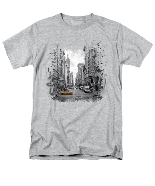 New York City 5th Avenue Men's T-Shirt  (Regular Fit) by Melanie Viola