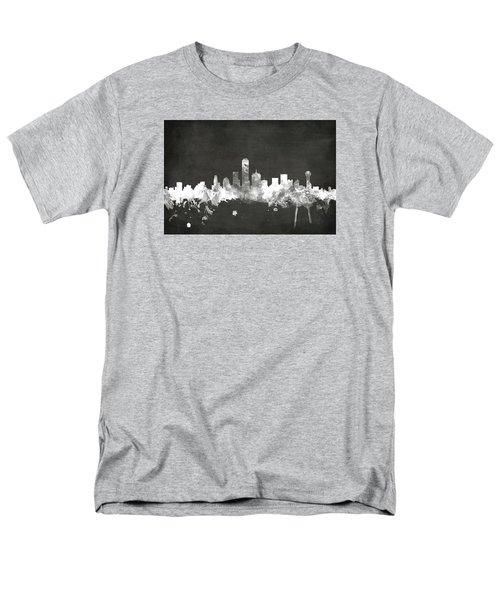 Dallas Texas Skyline Men's T-Shirt  (Regular Fit) by Michael Tompsett