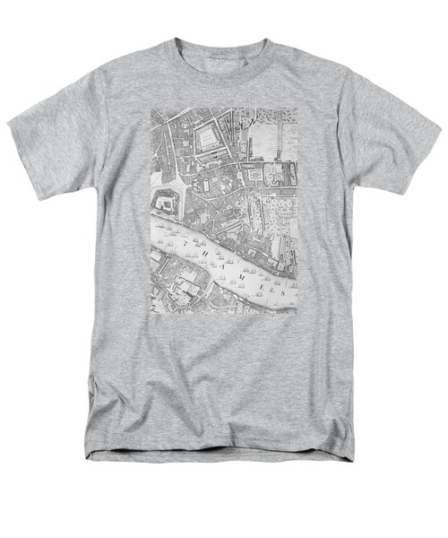 A Map Of The Tower Of London Men's T-Shirt  (Regular Fit) by John Rocque