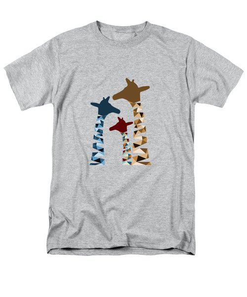 Abstract Colored Giraffe Family Men's T-Shirt  (Regular Fit) by Brigitte Carre