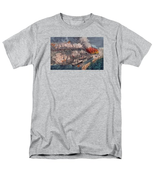 Admiral Farragut's Fleet Engaging The Rebel Batteries At Port Hudson Men's T-Shirt  (Regular Fit) by American School
