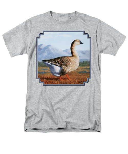 Brown Chinese Goose Men's T-Shirt  (Regular Fit) by Crista Forest