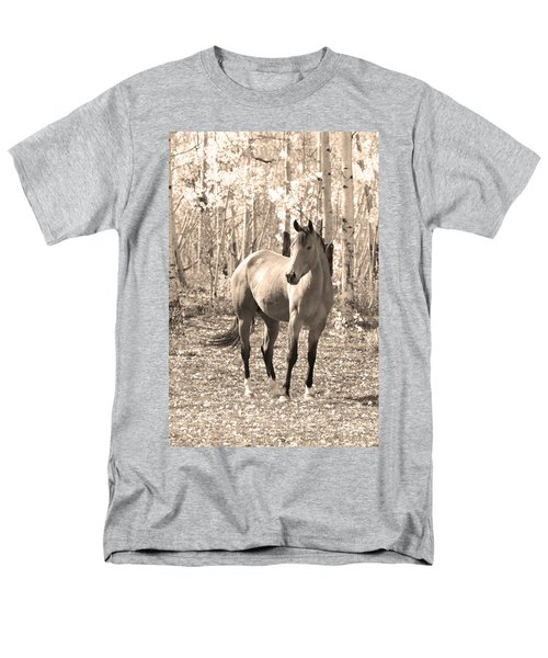 Beautiful Horse In Sepia T-Shirt by James BO  Insogna