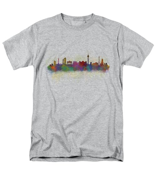 Berlin City Skyline Hq 5 Men's T-Shirt  (Regular Fit) by HQ Photo
