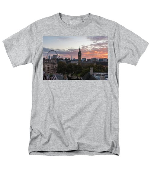 Big Ben London Sunrise Men's T-Shirt  (Regular Fit) by Mike Reid
