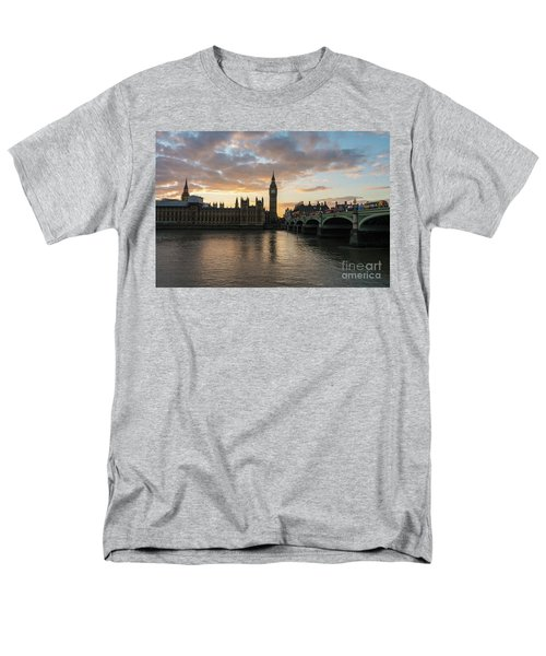 Big Ben London Sunset Men's T-Shirt  (Regular Fit) by Mike Reid