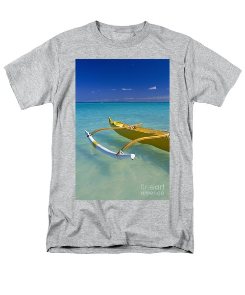 Close-Up Yellow Canoe T-Shirt by Dana Edmunds - Printscapes