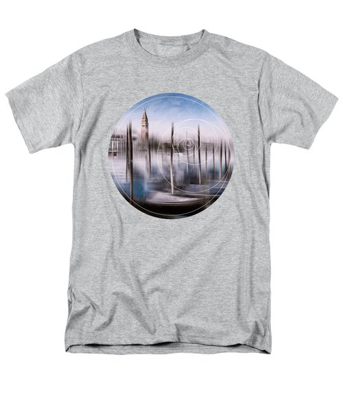 Digital-art Venice Grand Canal And St Mark's Campanile Men's T-Shirt  (Regular Fit) by Melanie Viola