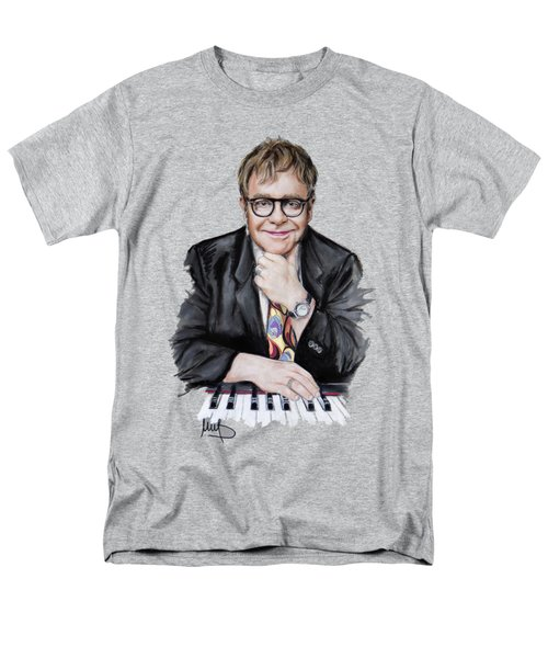 Elton John Men's T-Shirt  (Regular Fit) by Melanie D