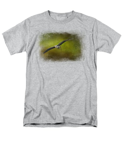 Great Blue Heron In The Grove Men's T-Shirt  (Regular Fit) by Jai Johnson