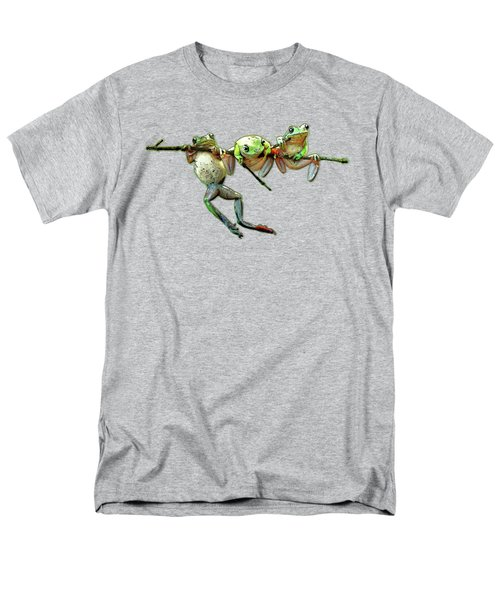 Hang In There Froggies Men's T-Shirt  (Regular Fit) by Elaine Plesser
