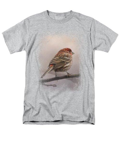 House Finch In January Men's T-Shirt  (Regular Fit) by Jai Johnson